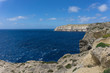 a coast with rough seas the Blue Hole in San Lawrenz on Gozo