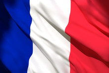 3d Rendering Of France Flag