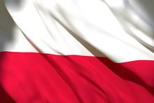 3d Rendering Of Poland Flag