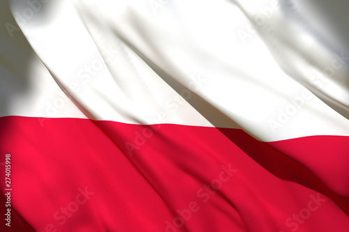 3d rendering of Poland flag