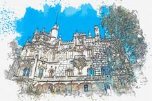 Watercolor Sketch Or Illustrat...