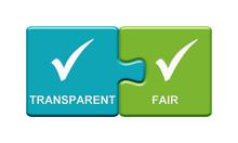 2 Puzzle Buttons Zeigen Transparent Und Fair