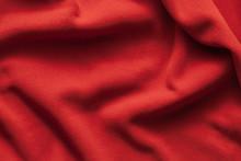 Background Texture Of Red Fleece Sheet
