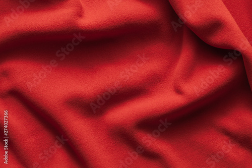 obraz PCV Background texture of red fleece sheet
