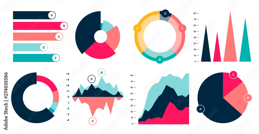 Fototapety, obrazy: Editable Infographic Templates. Use in corporate report, marketing, annual report. Network management data screen with charts, diagrams. Data Visualization Vector