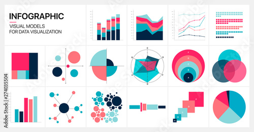 Fototapeta Editable Infographic Templates. Use in corporate report, marketing, annual report. Network management data screen with charts, diagrams. Data Visualization Vector obraz