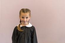 Elementary School Student Posing In Uniform