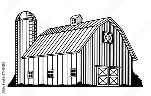 Obraz na płótnie Traditional Barn Icon