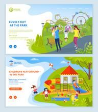 Childrens Playground At Park V...