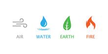 Four Elements Symbol. Vector I...