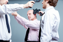Business Stand-off Or Stalemate Concept