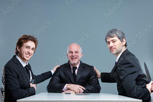 Smiling successful business team posing together Fototapeta