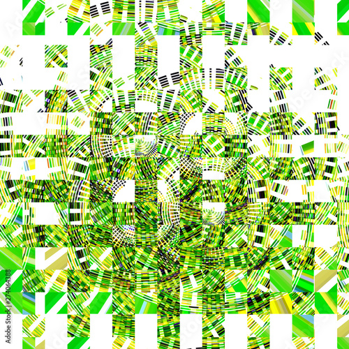 In de dag Vrouw gezicht Abstract design with elements of art