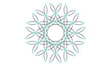 Green Line Vector Ornament Frame