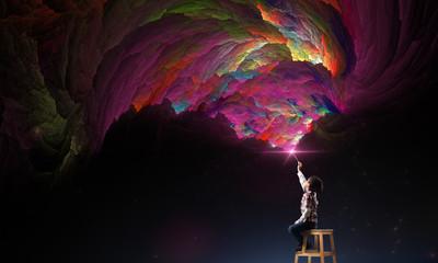 creativity imagination and dreams concept.