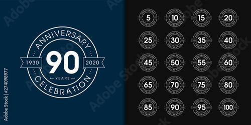 Set of anniversary logotype Fototapet