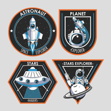 Set Of Space Explorer Patches ...