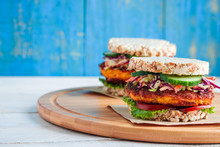 Healthy Vegan Burgers With Ric...