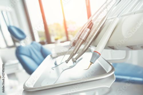 Fotografía  Dental drills in dentists office, dental care