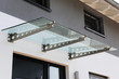 canvas print picture - Haustür-Vordach aus Glas