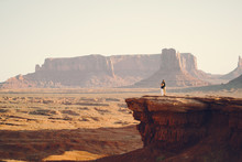 Boyfriend Proposing To Wife At Monument Valley In Arizona