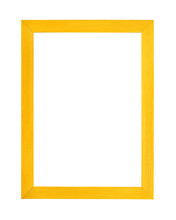 Modern Vivid Yellow Picture Frame On White