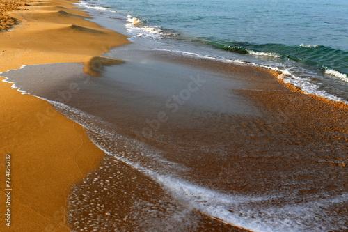 Fototapeta coast of the Mediterranean Sea in the north of the State of Israel obraz na płótnie