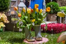Garden Composition With Stripe...