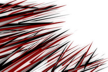 Black And Red Spikes Illustration