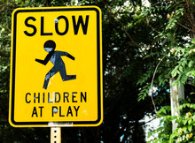 Slow Down Children At Play Sign