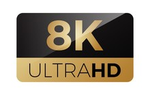 8k Video Icon .