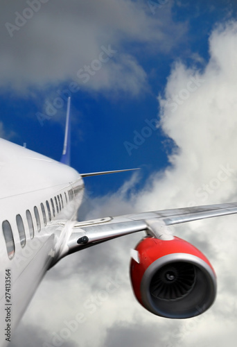 Photo  Commercial white airplane