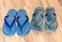 New And Old Dirty Flip Flops O...