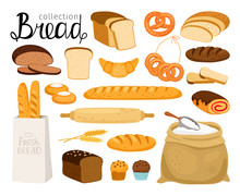 Vector Bread Collection. Cuisi...