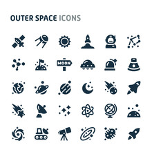 Outer Space Vector Icon Set. F...