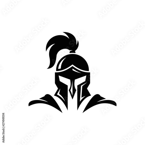 Fotografiet Warrior Knight Logo Stock Vector