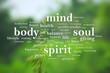 canvas print picture - Body Mind Soul Spirit, Motivational Words Quotes Concept