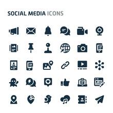 Social Media Vector Icon Set. ...