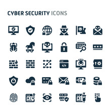 Cyber Security Vector Icon Set...