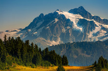 Mt. Shucksan As Seen From The Excelsior Ridge Trail. On This Trail Mount Shuksan Seems Close Enough To Touch Just Across The Valley, And Wildflowers Are Everywhere In Summer.