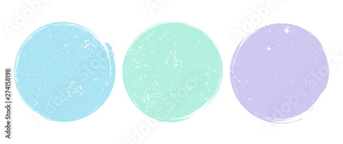 Cuadros en Lienzo  Brush Circle Logo Template Vector
