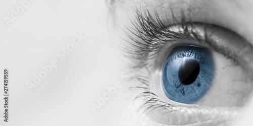 Fotografiet  Closup Of Blue Eye