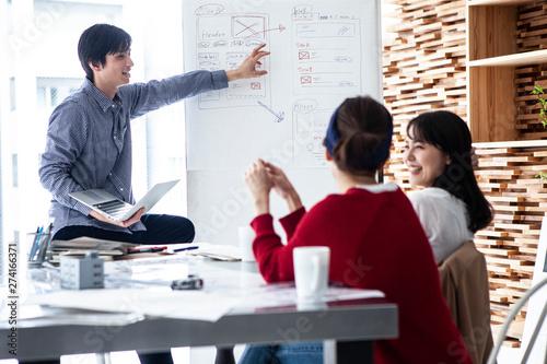 Foto  Webサイトの設計を考えるデザイナー達
