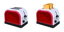 Bread Toaster Vector Design Illustration Isolated On White Background