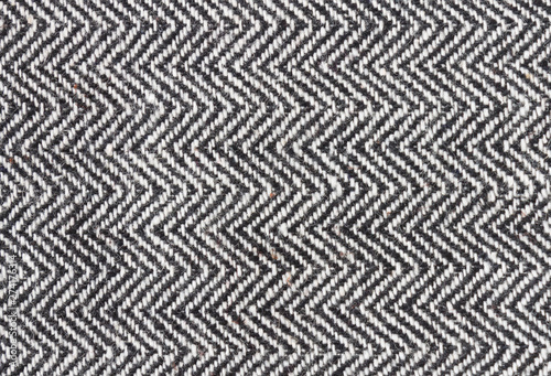 Black and White Zig Zag Pattern or Triangle Pattern Background Close Up View Fototapet