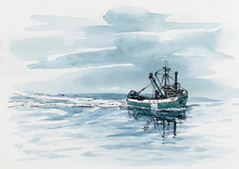 Small Fishing Trawler