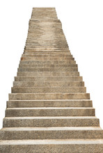 Stone Staircase Isolated On Wh...