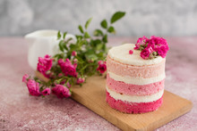 Beautiful Pink Cream And Berri...