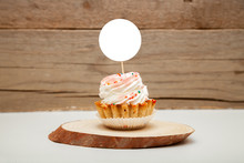Topper Mockup Display, Styled Round Label Cupcake Mockup