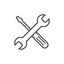 Repair Icon Grey. Wrench And S...